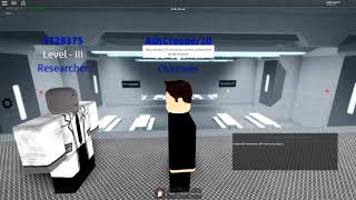 Training a Researcher to become a Senior in Jet's SCP Foundation! | Roblox