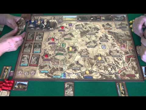 Королевская почта - играем в настольную игру, Board Game Thurn And Taxis