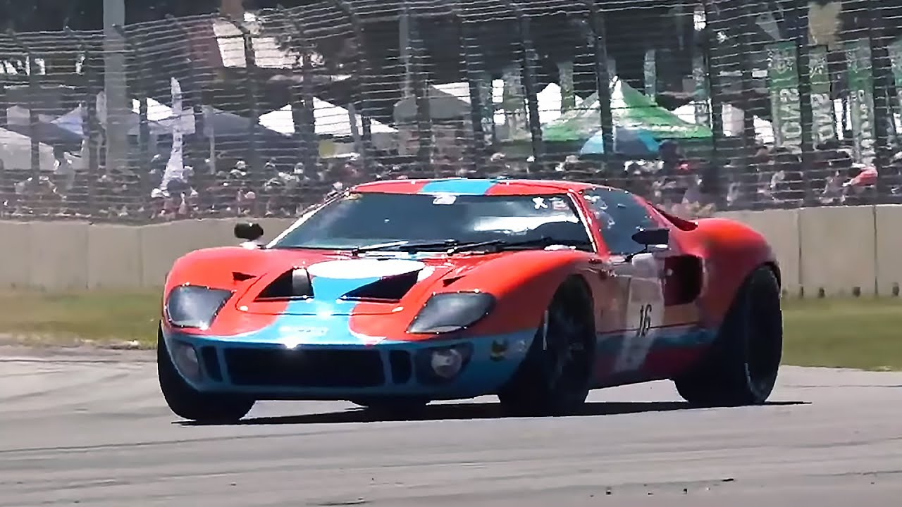 Fire Breathing Ford Gt Mk I Pure Sound Adelaide Motorsport Festival  Racing Line Australia