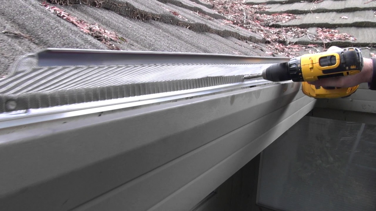 Installing Gutter Guards On A Soft Metal Roof Youtube