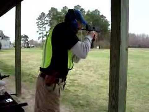 Buddy shooting a full-auto MAC-10/M11.