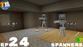 Double Skeleton Spawner Farm - Truly Bedrock Season 2 Minecraft SMP Episode 24