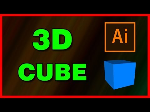 How to create a 3D Cube Effect in Illustrator CC 2019 - Tutorial thumbnail