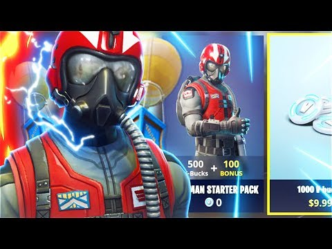 New FREE WINGMAN Starter Pack! New WINGMAN STARTER PACK In Fortnite Battle Royale! (New Free Skins)