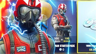 Nouveau pack de démarrage WINGMAN GRATUIT! Nouveau PACK WINGMAN STARTER dans Fortnite Battle Royale! (Nouveaux skins gratuits)