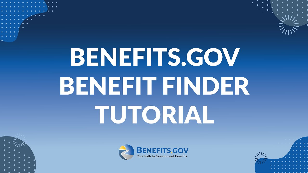Benefits.gov Benefit Finder Tutorial.. School, Business And Land Grants Available.