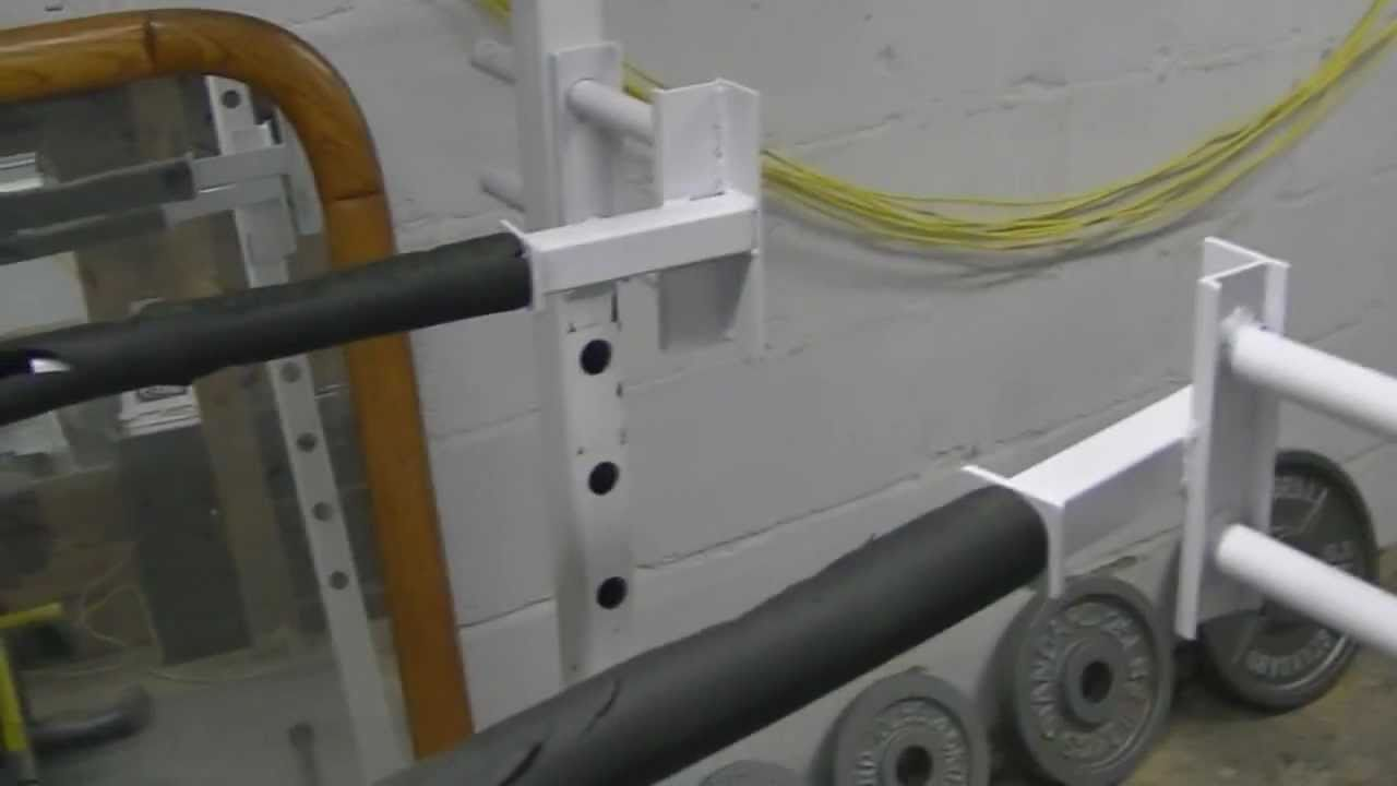 Custom Dip Bars For Power Rack | Homemade | DIY - YouTube