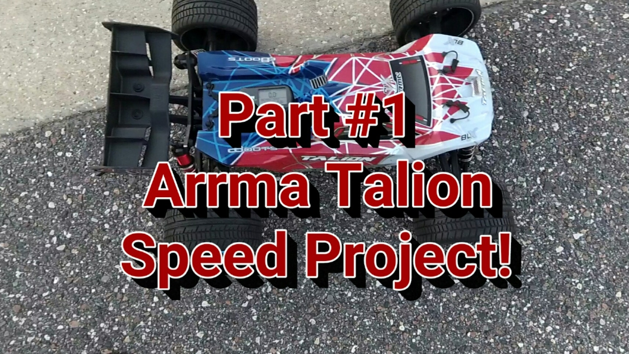 Part #1 of Arrma Talion Speed Project! Baseline run on 4s!