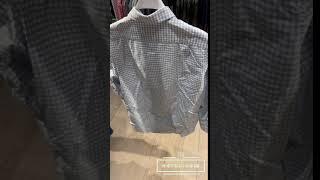 [헤세드 캐나다 구매대행] 라코스테 하늘색 체크셔츠