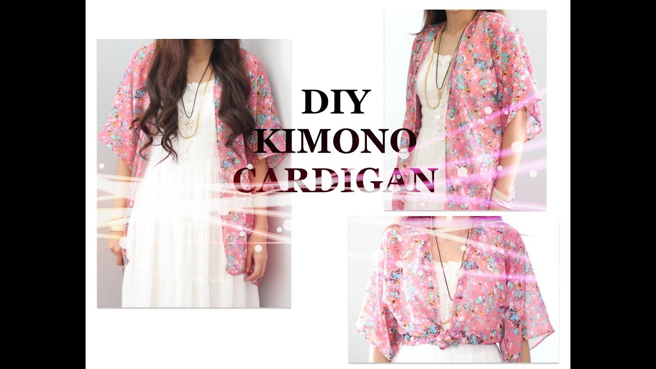 DIY Kimono Cardigan, Sewing Project for Beginners - YouTube