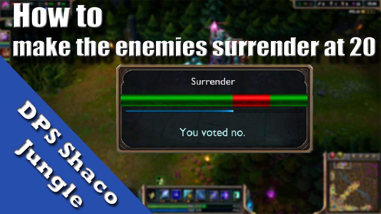 How To Make The Enemies Surrender At 20