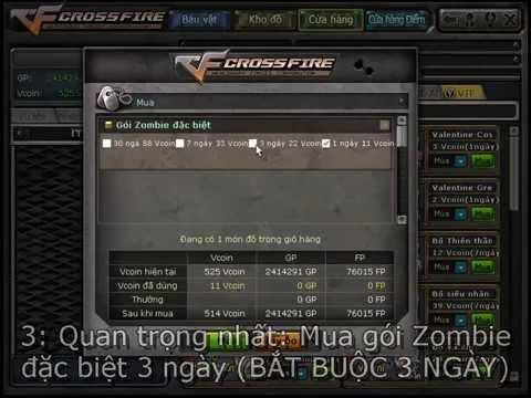 CrossFire VN - Cách mua full đạn zombie