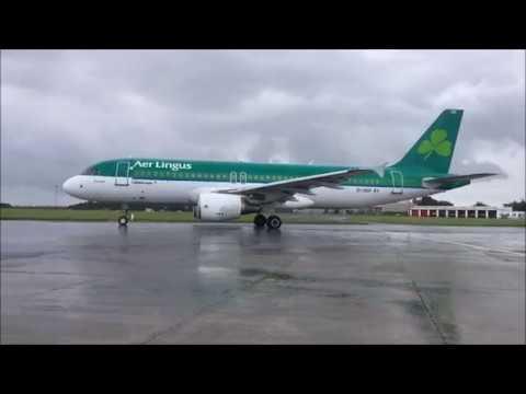 Gulfstream IV-SP Wing View Wet Landing Shannon Ireland EINN