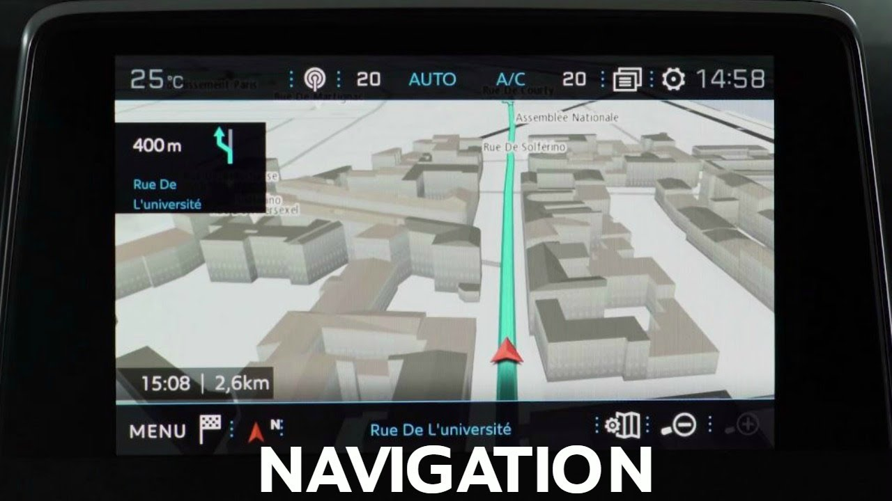 navigation 3d suv peugeot 3008 youtube. Black Bedroom Furniture Sets. Home Design Ideas