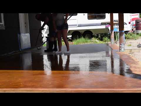 acid staining a concrete patio for beginners how to part 1
