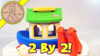 Vintage Little Tikes Noah's Ark Carry Along Playset With Animal Figures
