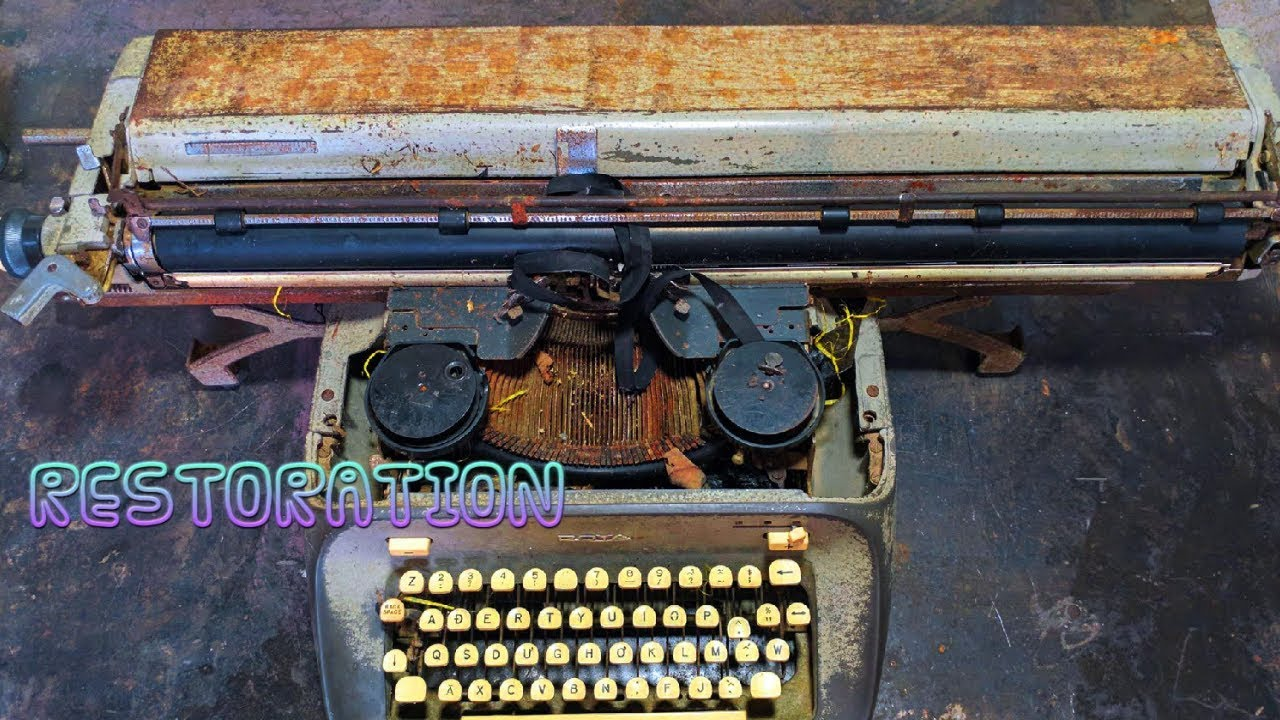 Very Old Typewriter Restoration And