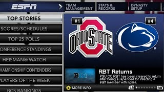 Back from Suspension   return of NCAA 14 Coaching Carousel Dynasty