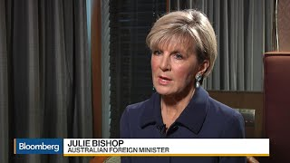 Australian Minister Bishop Says Slow Growth Poses Risks