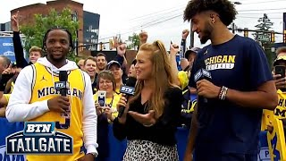 Zavier Simpson and Isaiah Livers Visit BTN Tailgate | Michigan Basketball