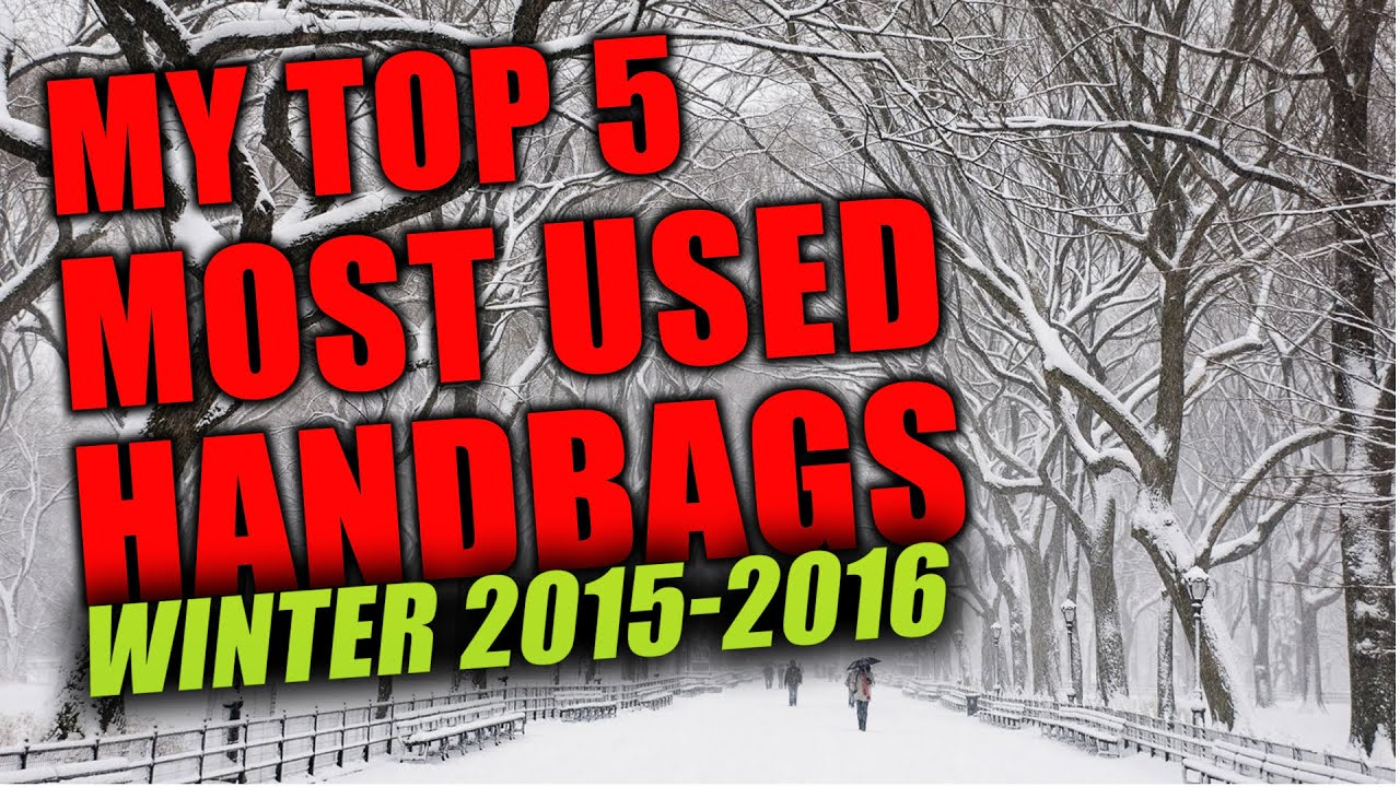prada double zip bag - My Top 5 Most Used Handbags | Winter 2015-2016 - YouTube
