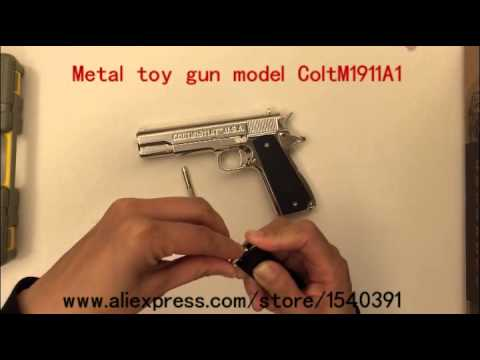 metal toy gun model ColtM1911A1 USA