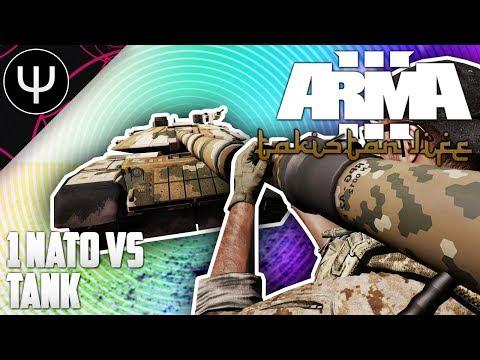 ARMA 3: Takistan Life Mod — 1 NATO vs Tank!
