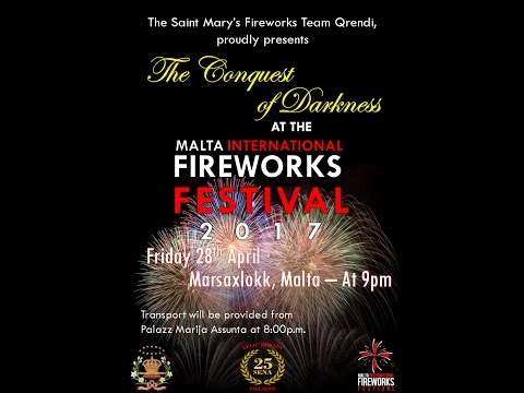 Promo of The Conquest of Darkness at the Malta International Fireworks Festival 2017