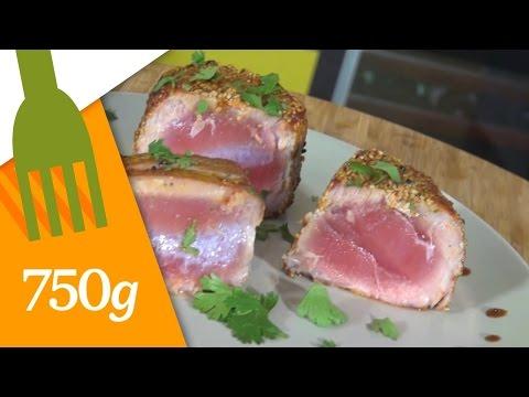 Steak de thon rouge au barbecue funnycat tv - Recette steak de thon grille ...