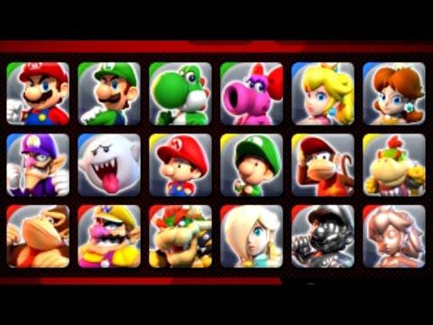 Mario Sports Superstars - All Characters Unlocked + Showcase