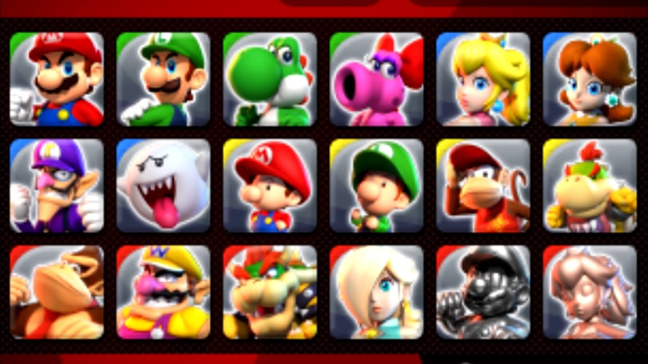 Mario Sports Superstars - All Characters Unlocked Showcase