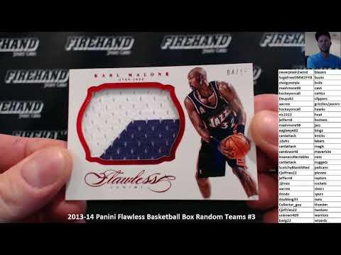 2013-14 Panini Flawless Basketball Box Random Teams #3 ~ 11/18/17
