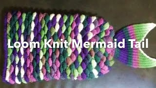 Loom Knit Mermaid Tail