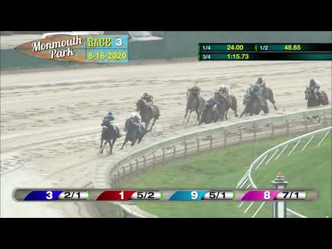 video thumbnail for MONMOUTH PARK 08-16-20 RACE 3