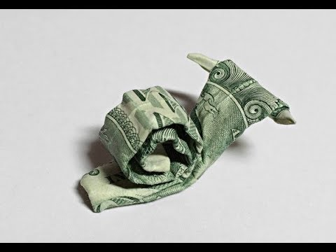 Dollar Origami Snail Preview Money Origami 1 Bill Origami