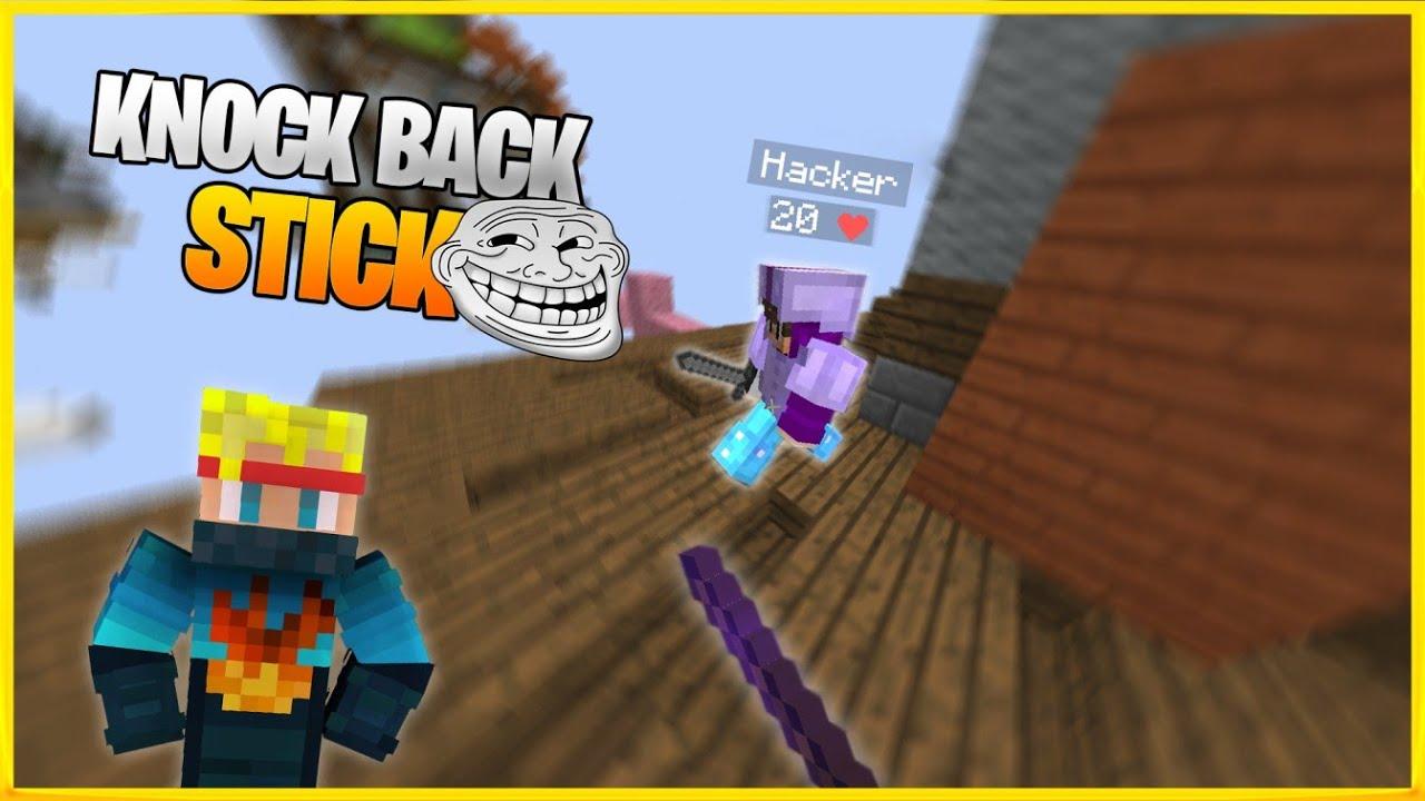 Knockback Stick Challenge - Trolling Players  Solo Bedwars Minecraft India