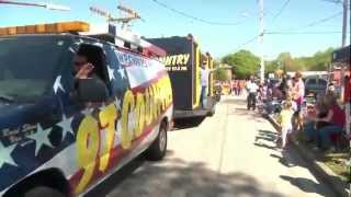 2012 Strawberry Festival Parade with 97 Country Breakfast Club