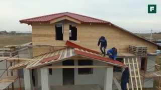 Комбинированный дом из арболита с дополнительным утеплением