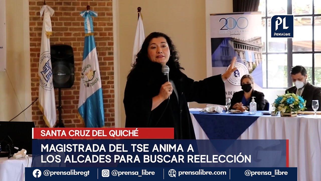 Blanca Alfaro, magistrada del TSE, invita a alcaldes a reelegirse y pide apoyo para Giammattei