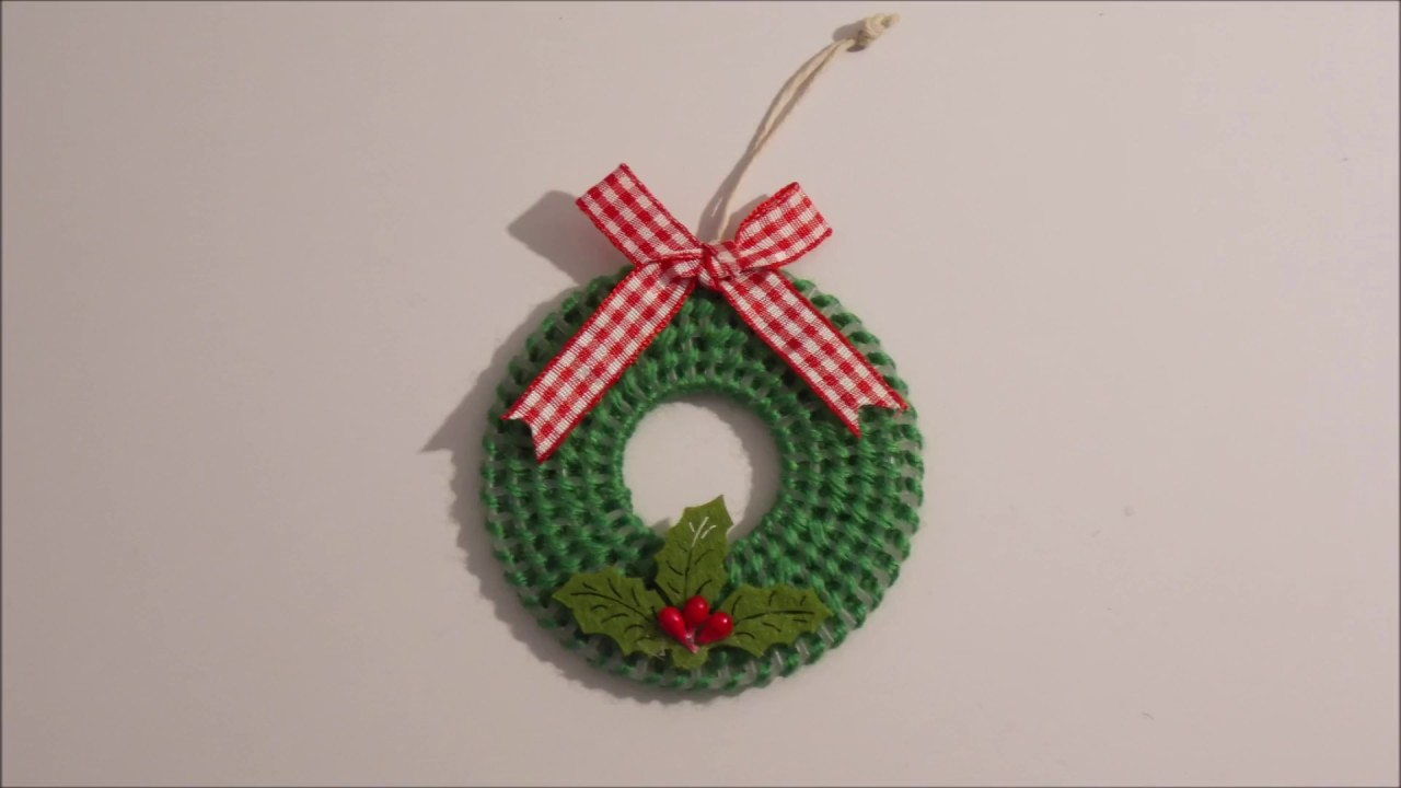 Plastic Canvas Christmas.How To Make A Plastic Canvas Christmas Tree Wreath Decoration