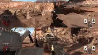 Star Wars: Battlefront Local Splitscreen Co-op Gameplay