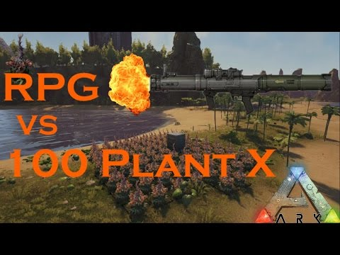 1 RPG VS 100 PLANT SPECIES ARK EVOLVED HOW GOOD ARE PLANT SPECIES AT PROTECTING YOUR BASE