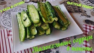 Малосольные огурцы быстрого приготовления. Рецепт малосольных огурцов в пакете с чесноком и зеленью.