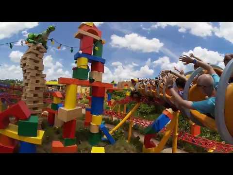 Slinky Dog Dash 4K 360° POV in Toy Story Land at Disney's Hollywood Studios