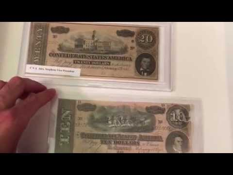 CONFEDERATE PAPER MONEY - Confederate Banknotes And Currency From The Civil War American Confederacy
