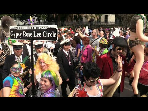 French Quarter Walking Parades - 2018 Mardi Gras New Orleans