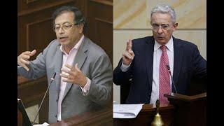 Duro agarrón entre Gustavo Petro y Álvaro Uribe en el Senado | Noticias Caracol