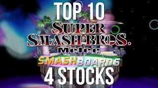 Best of Smash - Top 10 Super Smash Bros Melee 4 Stocks