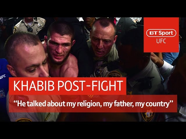Khabib post-fight press conference: McGregor disrespected my father and religion   UFC 229