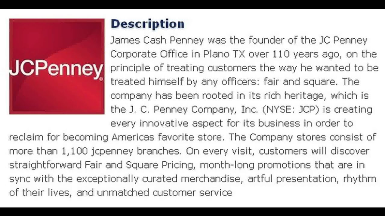 organisational culture jc penney Remaking jcpenney's organisational culture.
